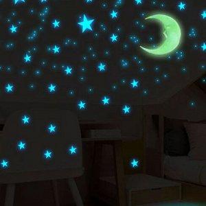 """Флуоресцентные наклейки """" Солнце и луна"""""""