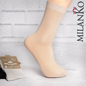 Мужские носки летние из ОТБОРНОГО хлопка (Узор 4) MilanKo N-184