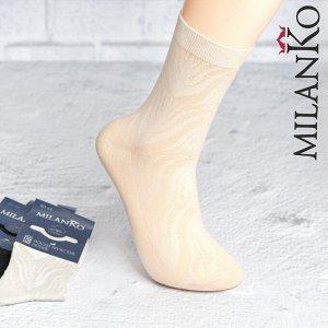 Мужские носки летние с выбитым рисунком (Узор 3) MilanKo N-180