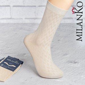 Мужские носки летние с выбитым рисунком (Узор 4) MilanKo N-180
