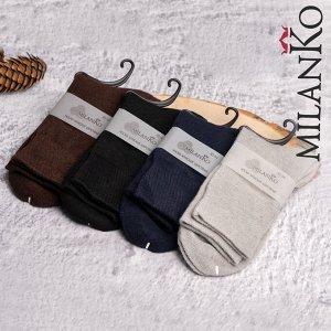 Мужские шерстяные носки однотонные (1) MilanKo N-413