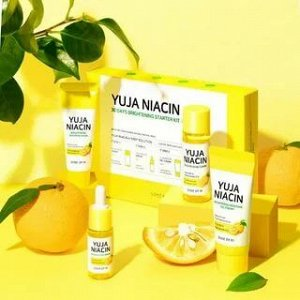 Набор SOME BY MI Yuja Niacin 30 Days Brightening Solution 4 - Step Kit: Тонер, Серум, Гель-крем, Ночная маска, ,