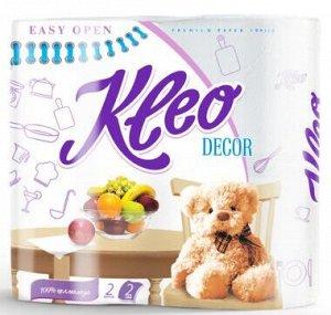 "Полотенца бумажные ""Kleo` Decor 2х сл. 1шт"