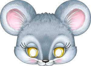 """Картонная маска """"Мышонок"""""""