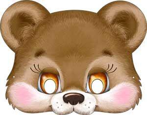"""Картонная маска """"Медвежонок"""""""