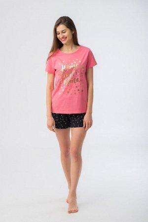 """Комплект Комплект жен WK 206 800, Состав: футболка 100% хлопок шорты 95%хлопок 5%лайкра"""""""