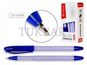 Ручка масляная, 0,5 mm, цвет чернил синий, ЛИЛОВЫЙ корпус, в стакане. Производство - Россия.