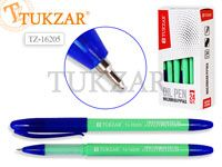Ручка масляная, 0,5 mm, цвет чернил синий, САЛАТОВЫЙ корпус, в стакане. Производство - Россия.