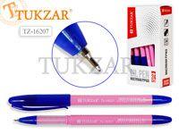 Ручка масляная, 0,5 mm, цвет чернил синий, РОЗОВЫЙ корпус, в стакане. Производство - Россия.