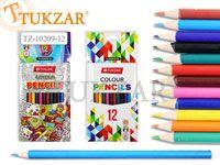 Набор цветных карандашей, круглые, 12 цветов, в картонной коробке. Производство Россия.