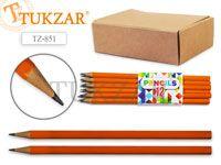 Чернографитный карандаш HB, шестигранный, заточенный, без ластика. 9 наборов по 12 шт. Производство Россия.
