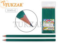 Набор чернографитных карандашей HB 12 шт.шестигранные, заточенные, без ластика. Производство Россия.