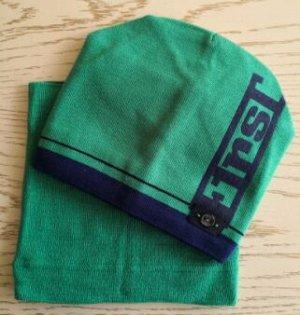 Набор шапка + снуд, цвет изумрудный