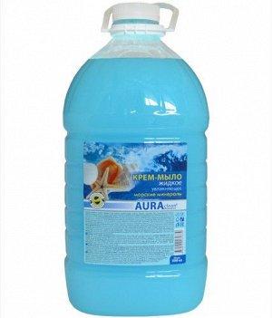 Аура Крем-мыло (бутылка) 5л Морские минералы