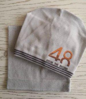 Набор шапка + снуд, цвет бежевый
