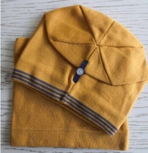 Набор шапка + снуд, цвет янтарный