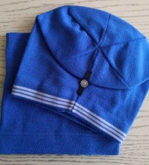 Набор шапка + снуд, цвет ярко-голубой