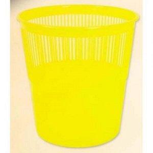 Корзина для бумаг пластиковая, цвет ЖЕЛТЫЙ. объем 12 литров. Производство Россия