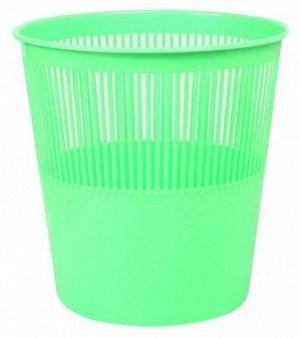 Корзина для бумаг пластиковая, цвет САЛАТОВЫЙ. объем 12 литров. Производство Россия