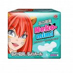 Прокладки гигиенические женские Maneki, дневные, серия Neko-mimi, 240 мм, 10 шт./упаковка