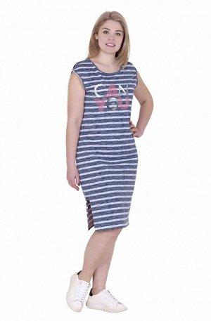 Платье Состав: 100% Хлопок; Длина: ниже колена; Рукав: короткий; Тип размера: 42-56 Туника из натурального хлопка, с небольшими спущенными рукавами, дополненными разрезами по верху, длина немного ниже