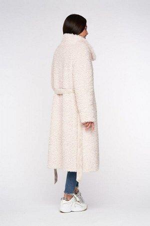 """Пальто из шерсти альпаки """"сливки"""""""