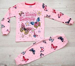 Пижама для девочки (кофта+брюки) УЗБЕКИСТАН (3-4-5-6-7)