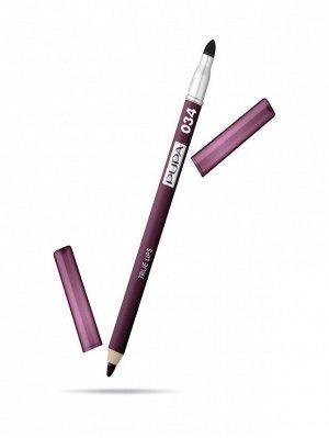 .Пупа  карандаш д/губ 34  NEW  красный сливовый