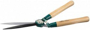 Кусторез RACO с волнообразными лезвиями и дубовыми ручками