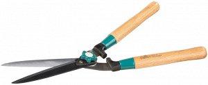 Кусторез RACO с дубовыми ручками и прямыми лезвиями