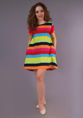 Платье Злата (цветная полоса)