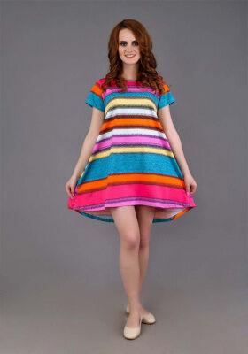 Платье Злата(широкая цветная полоса 3)
