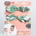 Набор повязок на голову для мамы и дочки «Листья», 2 шт.