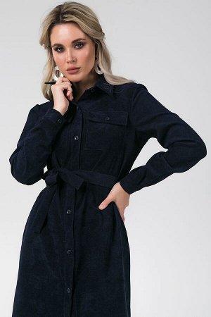 Платье Ирма №6.Цвет:темно-синий