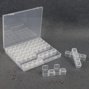 Контейнер для декора, 14 блоков по 4 ячейки, 21 ? 17,5 ? 2,7 см, цвет прозрачный