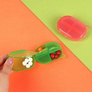 Таблетница «Овал», с подвесом, 5 секций, цвет МИКС