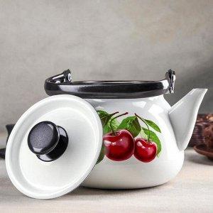 Чайник сферический «Вишнёвый сад», 3,5 л