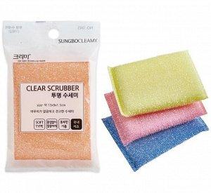 """SB """"CLEAN&CLEAR"""" Губка д/мытья посуды №045 """"Clear"""""""