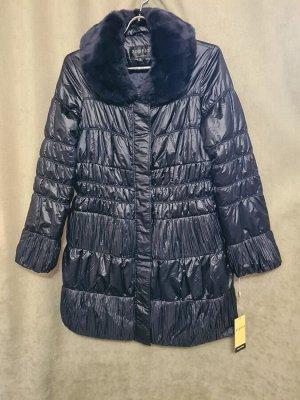 Куртка Куртка Пекин. Осень, на синтепоне. Цвет темно синий,  удлиненная.  Размер XL (на русский 48)