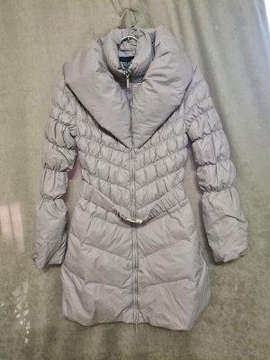 Куртка Куртка Пекин. Осень, на синтепоне. Цвет светло серый, удлиненная.  Размер L (на русский 46), XXL (на русский 50)