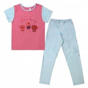 Пижама для девочек арт 10767-10