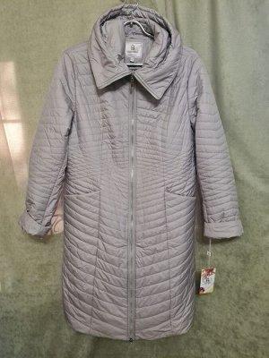 Пальто Пальто Пекин. Осень, на синтепоне. Цвет серый,  полуприлегающее.