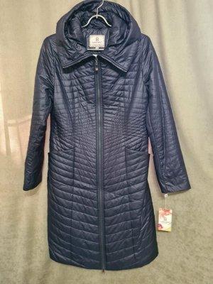 Пальто Пальто Пекин. Осень, на синтепоне. Цвет синий,  полуприлегающее. Размер 46 (на русский 48).