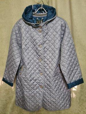 Куртка Плащ Россия. Осень, стеганная, облегченная. Цвет голубой.