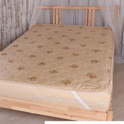 Подушки, Одеяла, Наматрасники, Чехлы на мебель — Наматрасники 90-100х200 см — Наматрасники