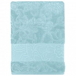 Полотенце банное 50*90 Bonita Азалия, махровое, голубое