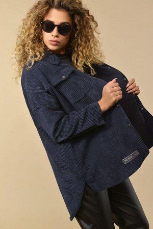 Рубашка Рубашка Сч@стье 7114 синий  Состав ткани: Вискоза-26%; ПЭ-74%;  Рост: 170 см.  Блузка женская свободного силуэта. Центральная застежка на кнопки. Воротник рубашечный на стойке. По спинке и по