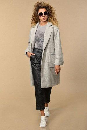 Пальто Пальто Сч@стье 7128  Состав ткани: Вискоза-26%; ПЭ-74%;  Рост: 170 см.  Пальто женское на подкладке. Пальто однобортное с воротником пиджачного типа. Рукав спущенный. Застежка центральная на п