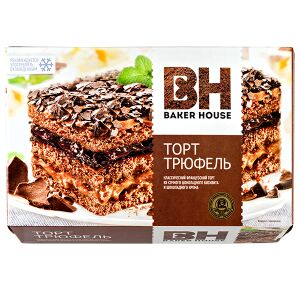 Торт Торт Baker House Трюфель 350 г  Нежный торт с настоящим шоколадным кремом и с сочным шоколадным бисквитом подарит Вам ощущение праздника и сделает любое чаепитие незабываемым. Рекомендуется употр