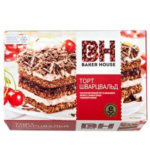 Торт Торт Baker House Шварцвальд 350 г  Классический немецкий торт из шоколадного бисквита со взбитыми сливками и вишневой начинкой, украшенный шоколадной стружкой. Рецепт этого лакомства появился в Г